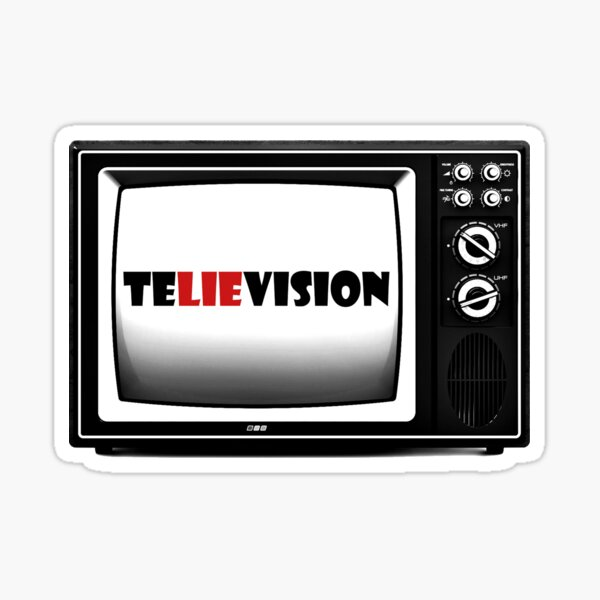 teLIEvision - fake news, defund the media Sticker