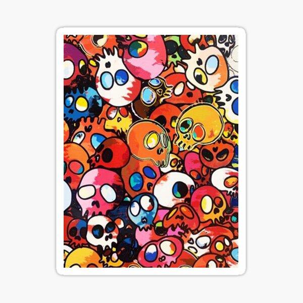 Takashi Murakami Skulls Sticker
