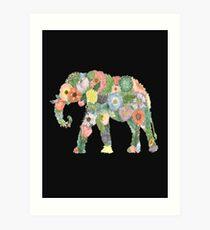 The Flower Elephant  Art Print