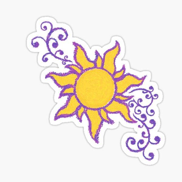 Tangled Sun Stickers Redbubble