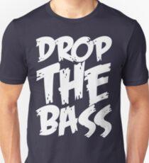 Drop The Bass (White) Unisex T-Shirt
