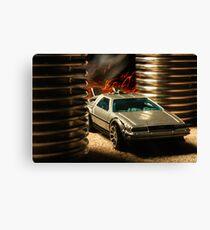 Hot Wheels DeLorean Canvas Print