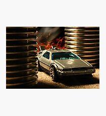 Hot Wheels DeLorean Photographic Print