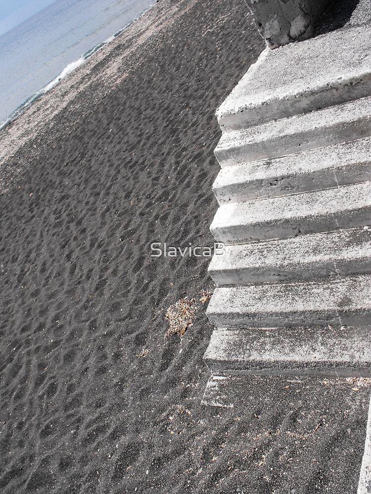 Steps in black sand by SlavicaB