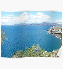 Santorini ocean: Greek Islands heaven Poster