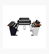 Vintage Synthesizers / Keyboards Photographic Print
