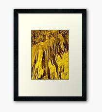 Greek cave Framed Print