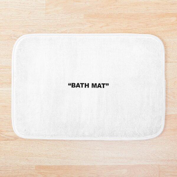 BATH MAT Off White - Cool Virgil Abloh Parody Designer clothes Bath Mat