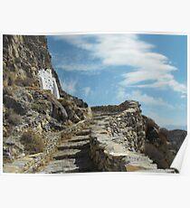 Greece: Amorgos Monastery 3 Poster