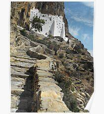 Greece: Amorgos Monastery 4 Poster