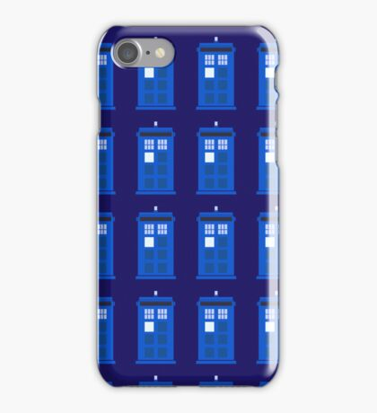 Tardis Pattern iPhone Case/Skin