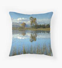 Wise Een Tarn, Cumbria Throw Pillow