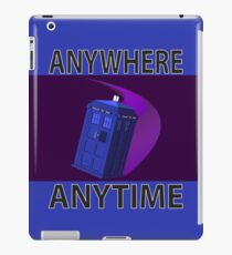 The TARDIS, Anywhere, Anytime TRAVEL POSTER iPad Case/Skin