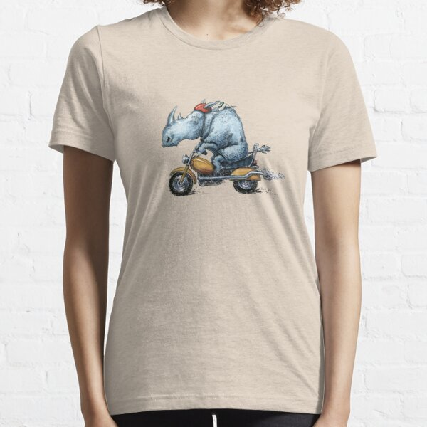 Motor-rhino Motorcycle Rhinoceros Design Essential T-Shirt