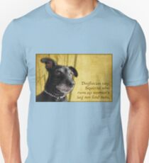 Dogfucius say: Squirrel who runs up woman's leg... Unisex T-Shirt