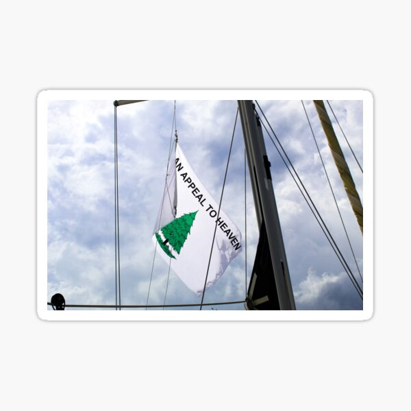 An Appeal to Heaven Flag on Sailboat Sticker