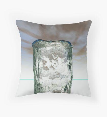 Column of Ice Throw Pillow