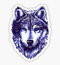 Timber Wolf - Blue Sticker