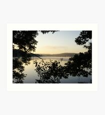 Sunrise At Willow State Park 2 Art Print