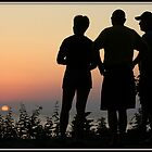 Silhouettes at Sunset by Mikell Herrick