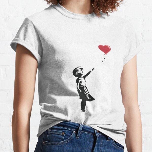 Bansky girl with balloon Classic T-Shirt