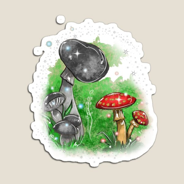 Tivona the Toadstool and His Mushroom Friend ™ Magnet