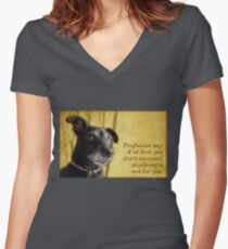 Dogfucius say: If at first you don't succeed... Women's Fitted V-Neck T-Shirt