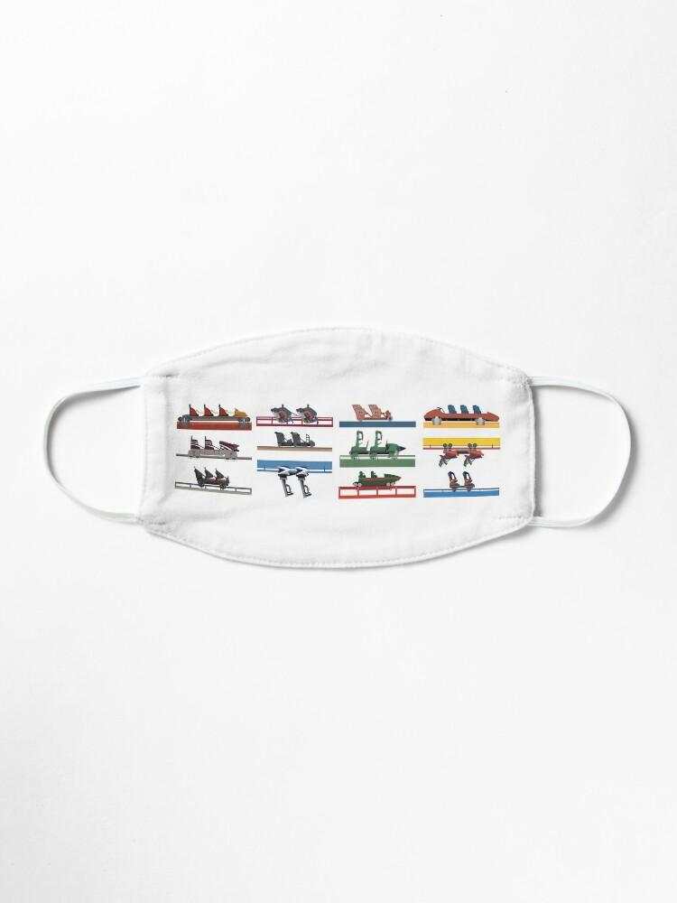 Alternate view of Six Flags Magic Mountain Coaster Cars Design Mask