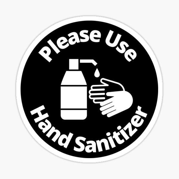 Bitte verwenden Sie Händedesinfektionsmittel - Abgerundetes Schild Sticker