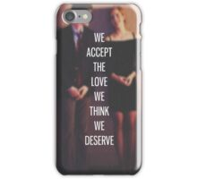 The Love We Think We Deserve iPhone Case/Skin