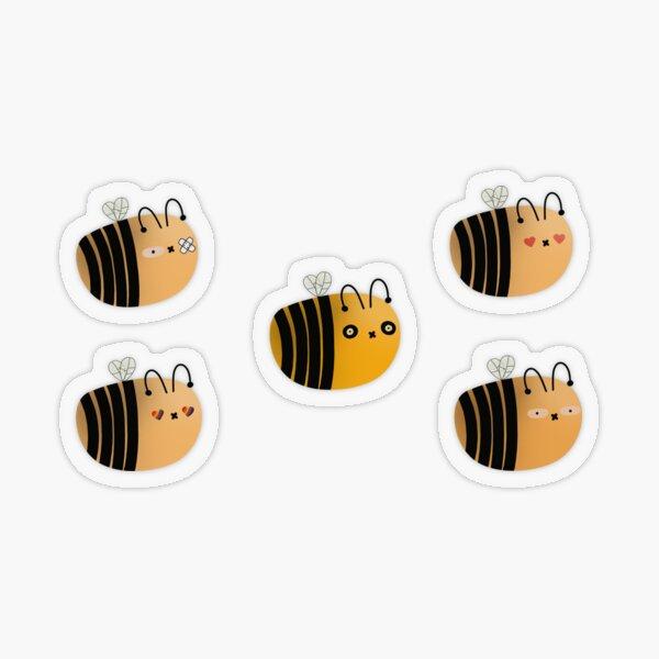 Biene lustige Aufkleber Transparenter Sticker