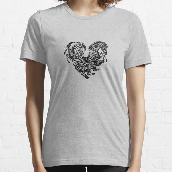 Zebra Heart, Animal Lover's Design Essential T-Shirt