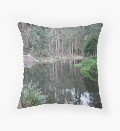 Reflections In Our Local Water Hole Throw Pillow