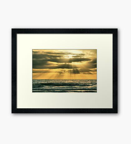 Mission Beach Evening Framed Print
