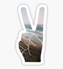 Peace Hand Beach Good Vibes Tumblr Vintage Love Instagram Print Sticker