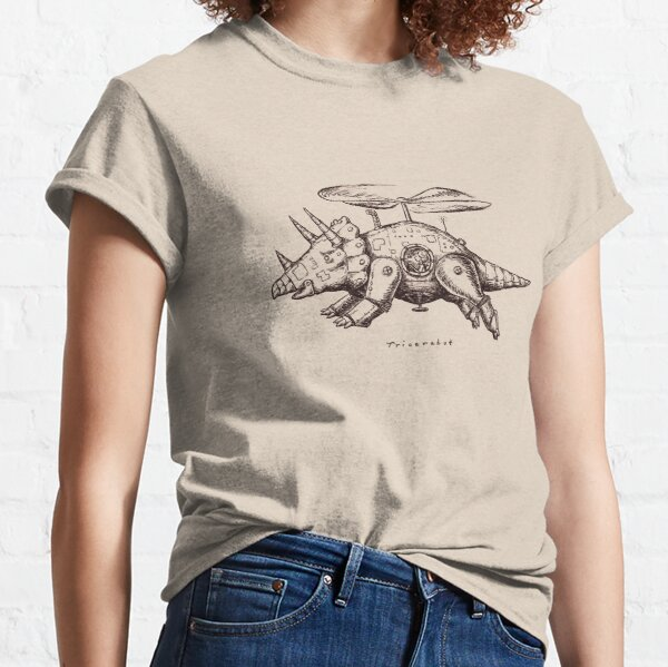 Tricerabot, Triceratops Mechanical Flying Machine Design Classic T-Shirt