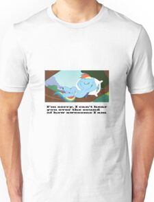 Rainbow dash being awesome Unisex T-Shirt