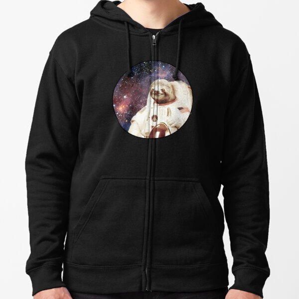 Astro Sloth Zipped Hoodie