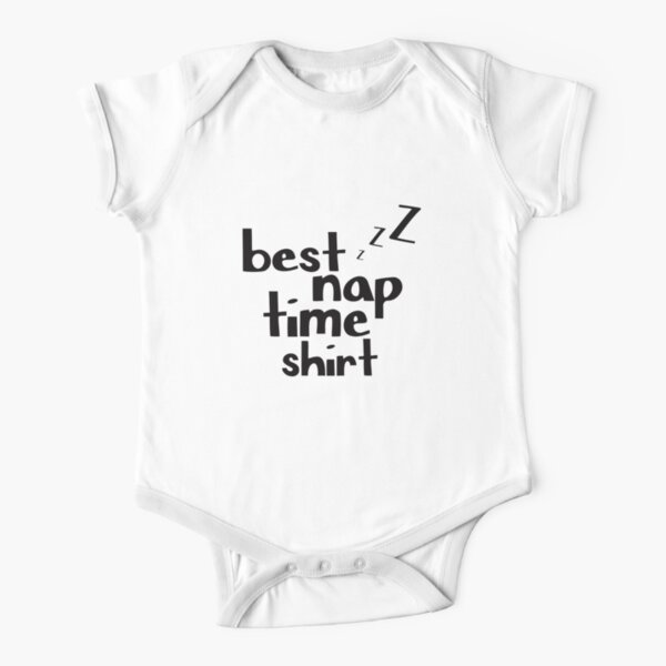 Lazy Sleeping Funny Tired Nap Baby Jersey Short Sleeve Tee Napping Gift My Happy Hour is Nap Time