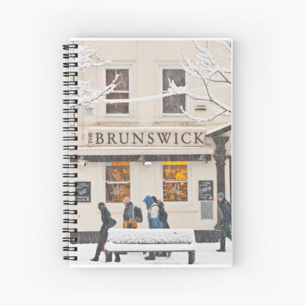 The Brunswick pub under the snow Spiral Notebook