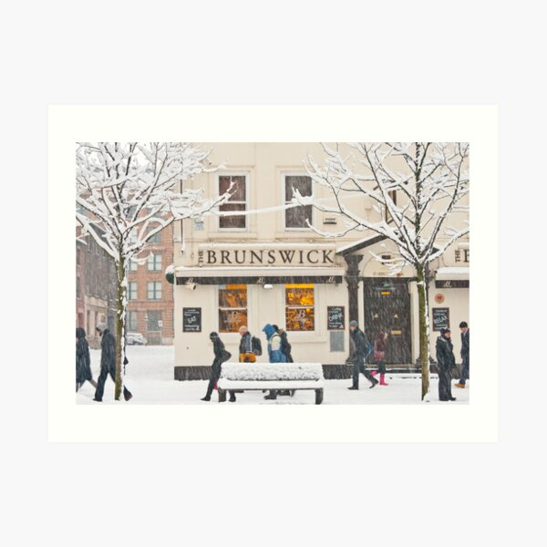 The Brunswick pub under the snow Art Print