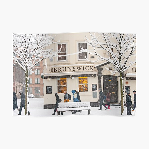 The Brunswick pub under the snow Poster