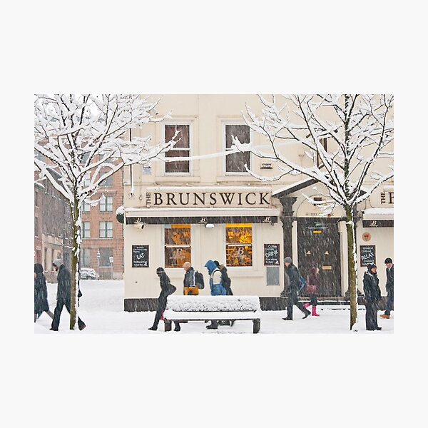 The Brunswick pub under the snow Photographic Print