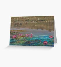 surreal waterlillies Greeting Card