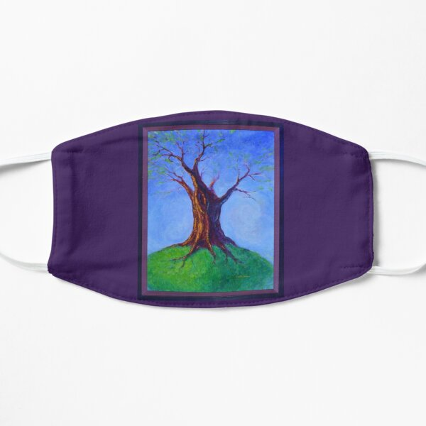 Seasoned Optimism tree on hill Flat Mask