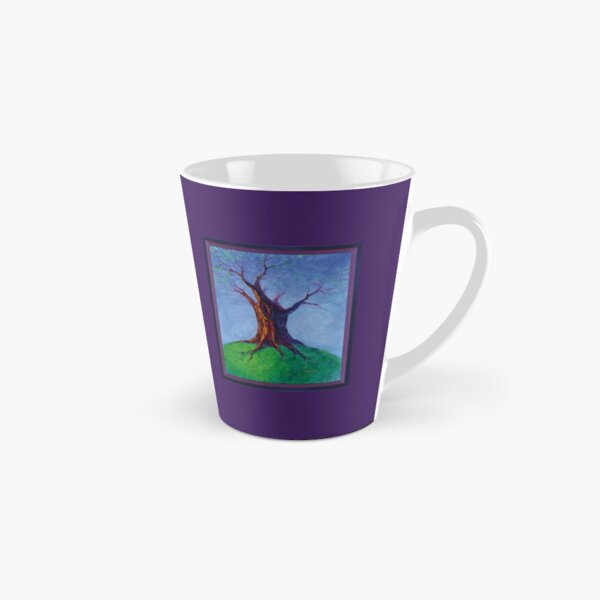 Seasoned Optimism tree on hill Tall Mug