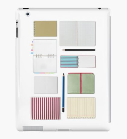 notebook and blank paper set iPad Case/Skin