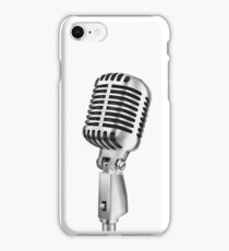 retro microphone iPhone Case/Skin