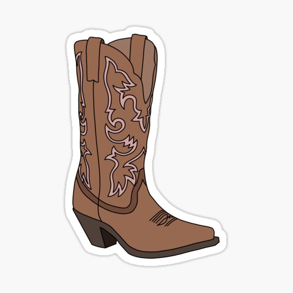 Cowgirl Boot Pink Sticker