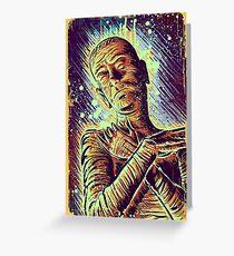 The Mummy Art joe badon universal monster monsters bandages horror classic movie film Boris Karloff Halloween Egyptian prince Imhotep Greeting Card